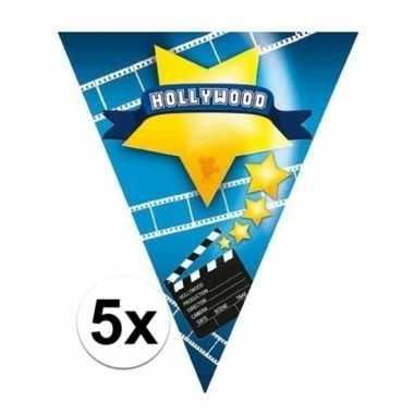5x vlaggenlijnen hollywood 5 meter