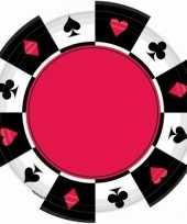 Casino feest bordjes 8 stuks