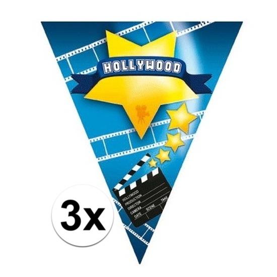 3x vlaggenlijnen hollywood 5 meter