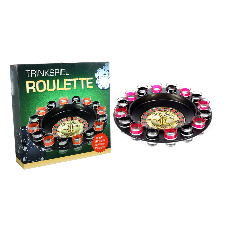 Drankspel / drinkspel shot roulette 29 cm
