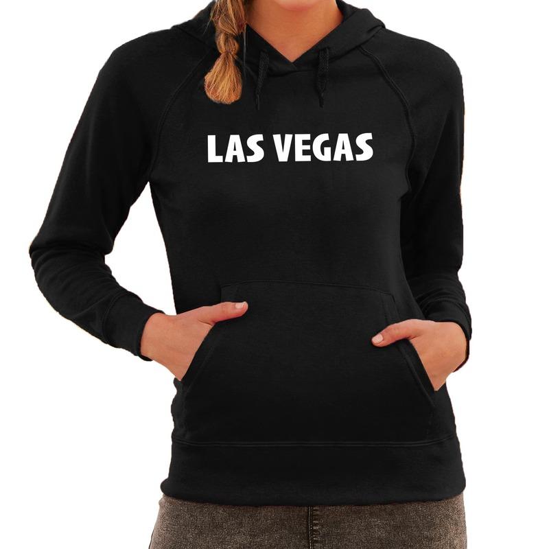 Las vegas wereldstad hoodie zwart dames