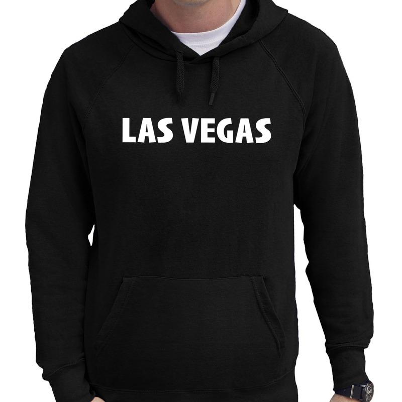 Las vegas wereldstad hoodie zwart heren